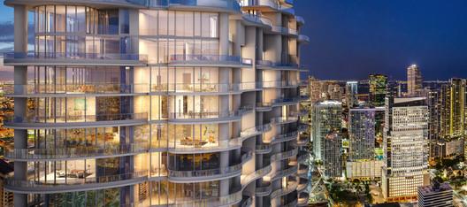 Miami's Brickell Flatiron Building Now Halfway Completed