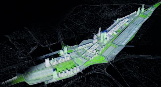 Plan Parcial de Reforma Interior Prolongación de la Castellana, proyecto de J.Mª Ezquiaga 2009 para DUCH. Image © Archivo público del Ayuntamiento de Madrid