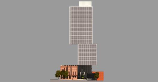 Elevación por calle Nuestra Señora de la Asunción. Image Cortesía de TDA