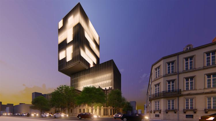 Tda asociados dise ar las oficinas centrales del banco for Blau hotels oficinas centrales