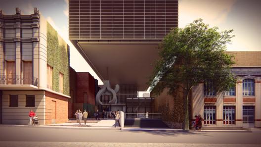 Segunda acceso: escala monumental. Image Cortesía de TDA