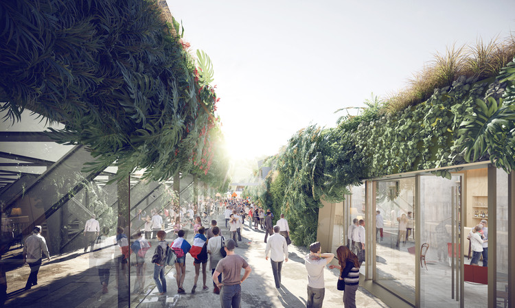 SCAU Architectes to Design Vegetated Stadium in Paris, Courtesy of SCAU architecture