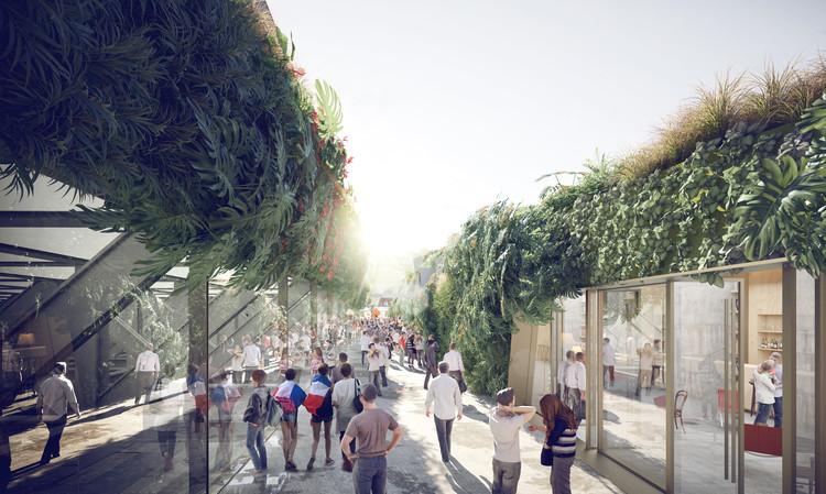 "SCAU Architectes propõe ""estádio verde"" em Paris, Cortesia de SCAU architecture"