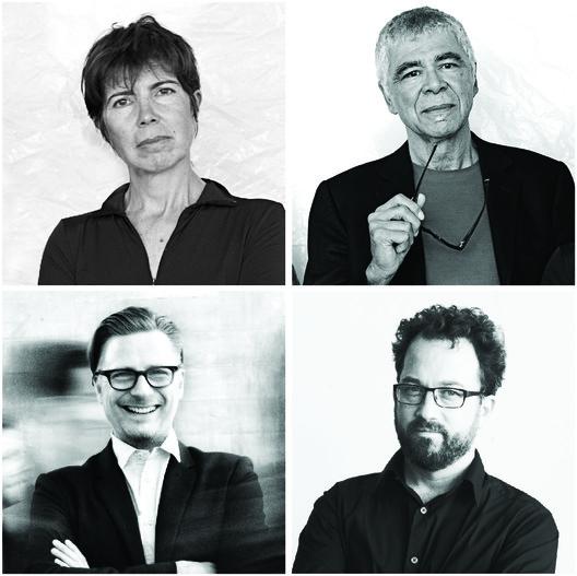 Clockwise from top left: Elizabeth Diller, Ricardo Scofidio, Benjamin Gilmartin, and Charles Renfro. Image © DIller Scofidio + Renfro