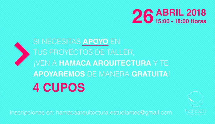 Hamaca Arquitectura abre ayudantías gratuitas a estudiantes de Arquitectura, Imagen creada por el equipo técnico de hamaca arquitectura
