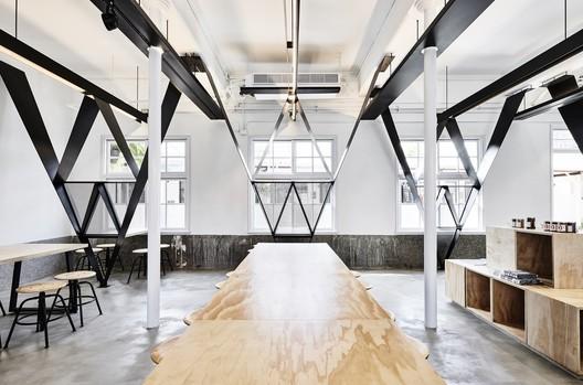 Ward with V dots  / B+P Architects