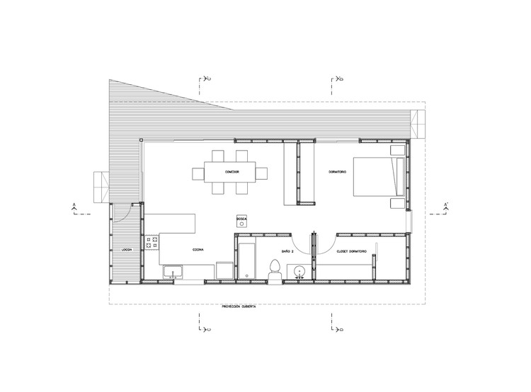House Plans Under 100 Square Meters: 30 Useful Examples ... on square building floor plan, square art, square house, square bathrooms, house plans, square home design, square construction, square cabin homes,