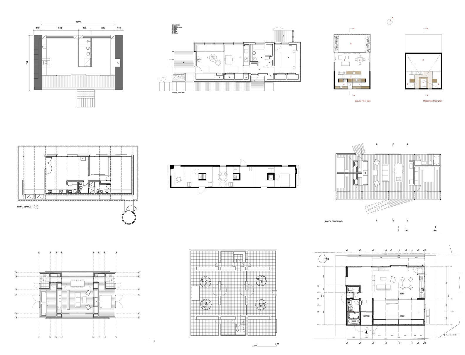 House Plans Under 100 Square Meters: 30 Useful Examples ... on