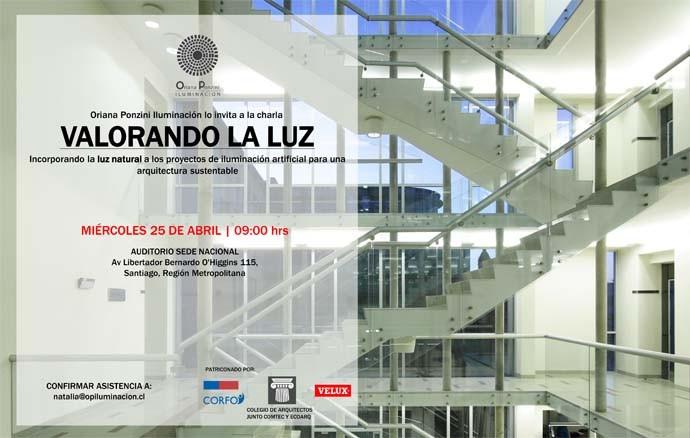 Conferencia: 'Valorando la luz' sobre luz natural a los proyectos de iluminación artificial, Oriana Ponzini- OP Iluminacion