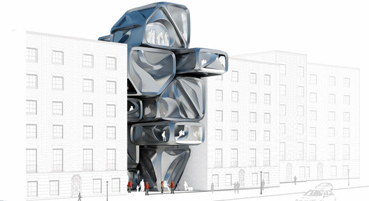 Team Townhouse 2.0 envisions made-to-order housing that promotes communal living. Image Courtesy of Design Research Laboratory