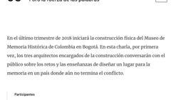 Arquitectos del futuro Museo de Memoria Histórica de Colombia conversarán sobre los desafíos del proyecto