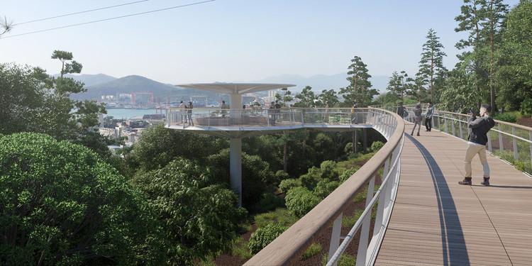 DISSING + WEITLING vence concurso para ponte de pedestres panorâmica na China, Cortesia de DISSING+WEITLING Architecture
