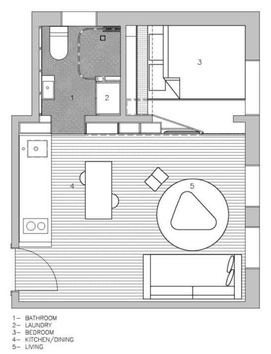 House Plans Under 50 Square Meters: 26 More Helpful Examples of ...