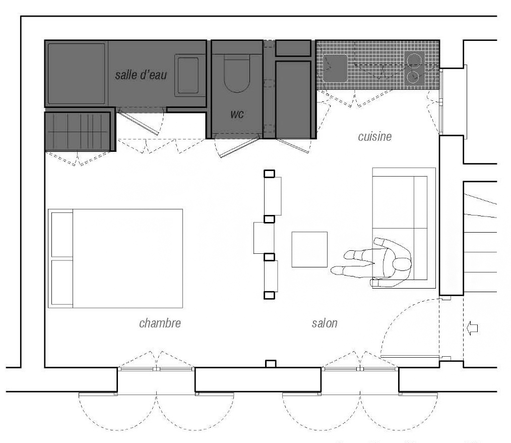 House Plan For 15 Feet By 50 Feet Plot Plot Size 83: Gallery Of House Plans Under 50 Square Meters: 26 More