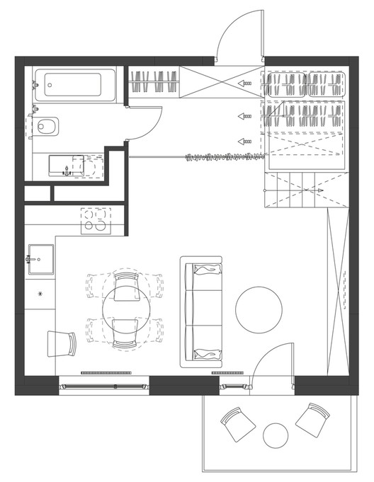 House Plans Under 50 Square Meters 26 More Helpful Examples Of Small Scale Living Archdaily,Unique Toilet Paper Holder Wall Mount