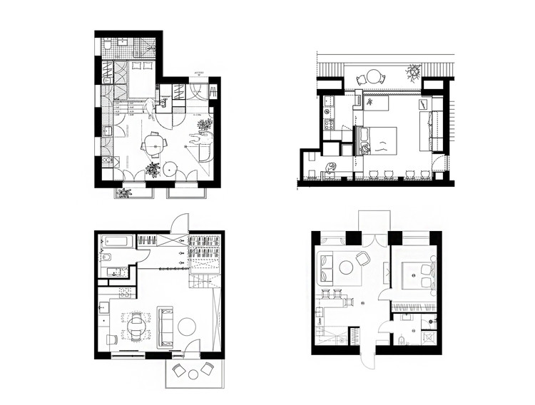 House Plans Under 50 Square Meters: 26 More Helpful Examples ... on square building floor plan, square art, square house, square bathrooms, house plans, square home design, square construction, square cabin homes,
