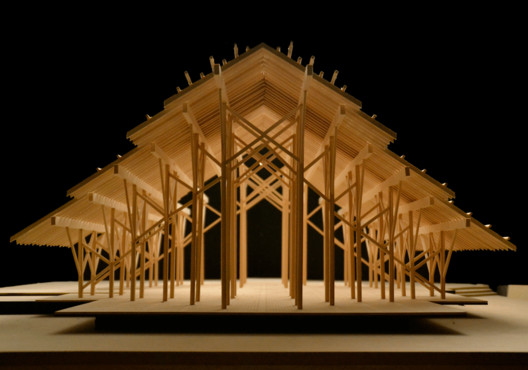 Pinecote Pavilion by Fay Jones / Model by Garrett Wineinger + Laura Leticia + Angelika Sophi. Image courtesy of Garrett Wineinger