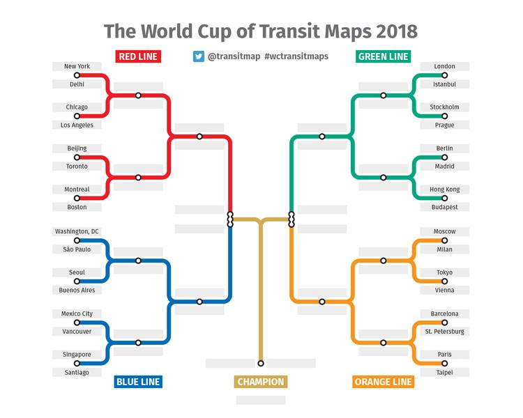 ¿Cuál es el mejor mapa de Metro? Transit Maps creó su propio Mundial para saberlo, © Transit Maps