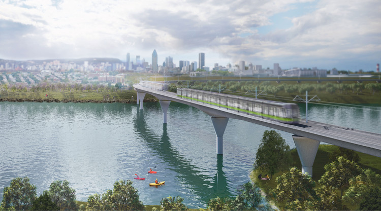 Lemay, Perkins+Will, and Bisson Fortin to Design Montreal Light Rail System, Courtesy of Réseau express métropolitain (REM)