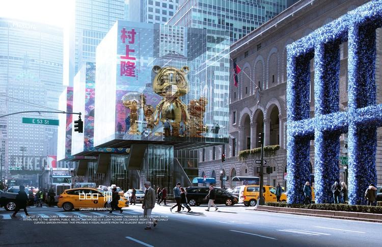 Propostas de passarelas elevadas e rios vencem concurso para a Park Avenue, em Nova Iorque, Park Park. Image © Maison