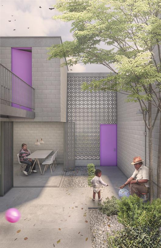 CIUDADES [en]VISIBLE: Conheça os vencedores e menções deste concurso que propõe habitação social para Lima, Cortesía de MUTUO