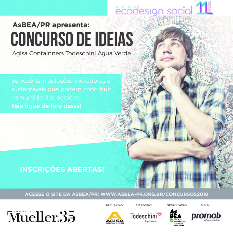 AsBEA-PR promove Concurso de Ideias Agisa Todeschini, Concurso Agisa-Todeschini - Cartaz de divulgação.
