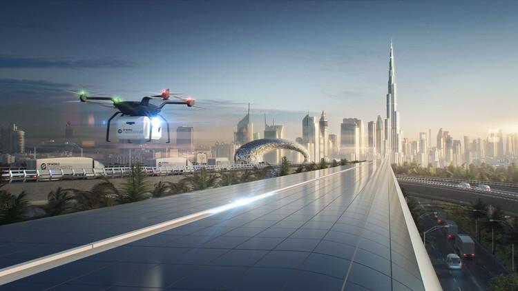 Vídeo apresenta proposta de Foster + Partners para uma rede Hyperloop de transporte de carga, Cortesia de Foster + Partners