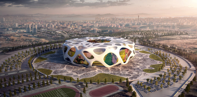AFL Architects Reveal Images of Turkey's Soccer Stadium for UEFA Euro 2024 Bid, Courtesy of AFL Architects