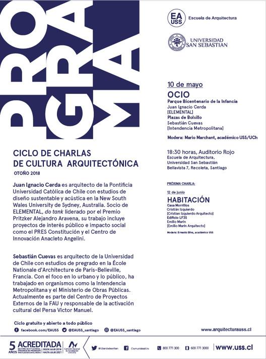 PROGRAMA: Juan Ignacio Cerda y Sebastián Cuevas | CCCA USS | Otoño 2018, Escuela de Arquitectura, Universidad San Sebastián [EA USS]