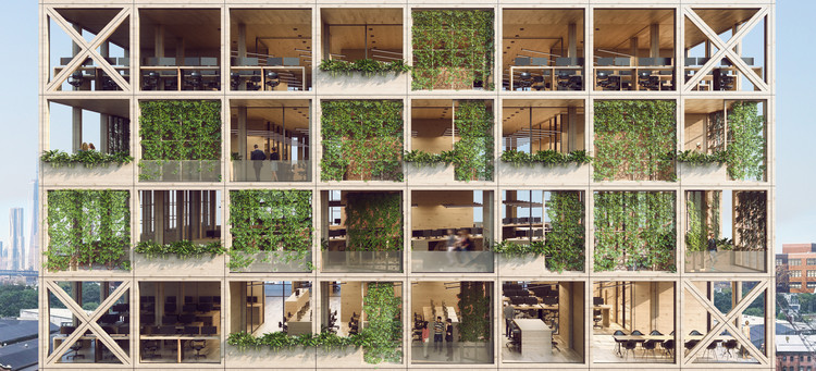 """Pixel Facade"" System Combines a Love for Nature With Next-Generation Workspaces , © Mengyi Fan"