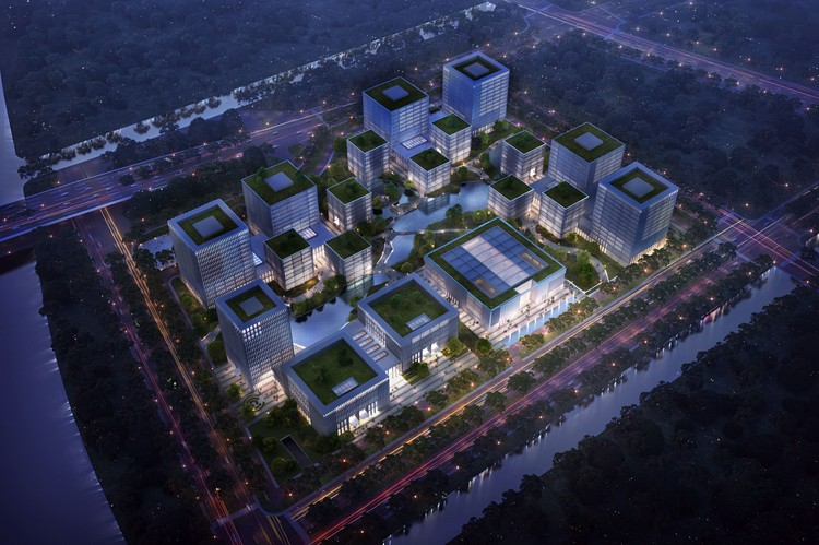 gmp Wins Competition for Science Complex in Suzhou, China, Courtesy of gmp Atchain