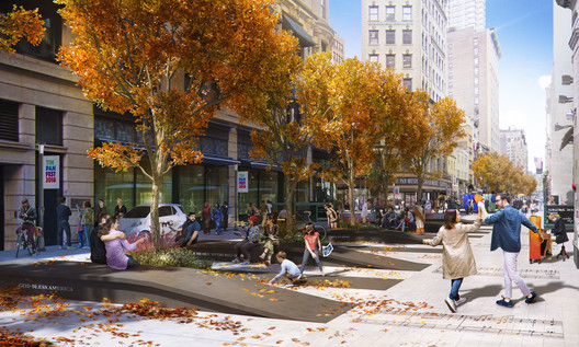 The proposed plan for NoMad Walk in New York City. Image © NoMad Walk. Rendering by Kilograph.