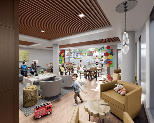 Proposed interior for The Coloradan by East West Partners. Image © East West Partners. Rendering by Kilograph.