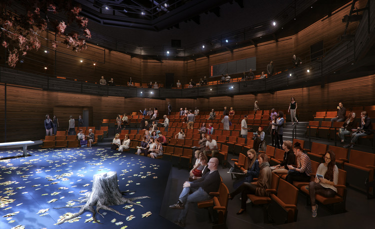 How To Add People To Your Renders Like a Pro, The proposed plan for the TheaterSquared's mainstage. Image © Charcoalblue. Rendering by Kilograph.