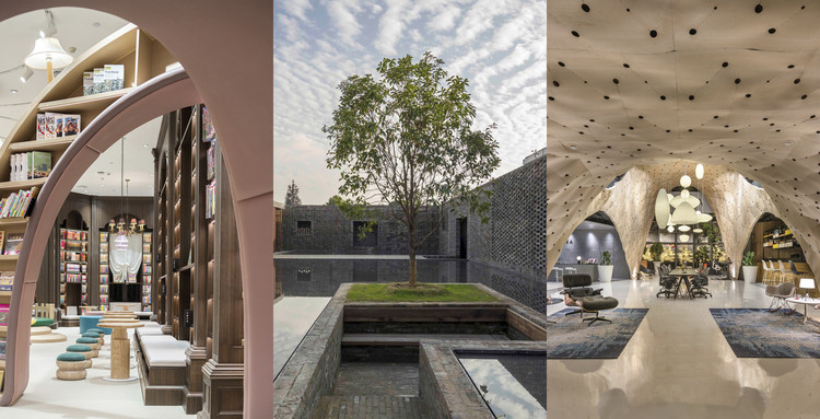 24 proyectos de tiendas, hoteles y restaurantes en Asia ganadores continentales del Prix Versailles 2018, Neobio Family Park / X+Living image © SHAO Feng; The Walled - Tsingpu Yangzhou Retreat / Neri&Hu Design and Research Office image © Pedro Pegenaute; Herman Miller Pavilion v.2 / PRODUCE image cortesía de PRODUCE Workshop . Image