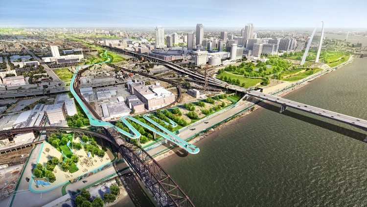 Stoss Landscape Urbanism Selected to Design Chouteau Greenway for St. Louis, Courtesy of Stoss Landscape Urbanism