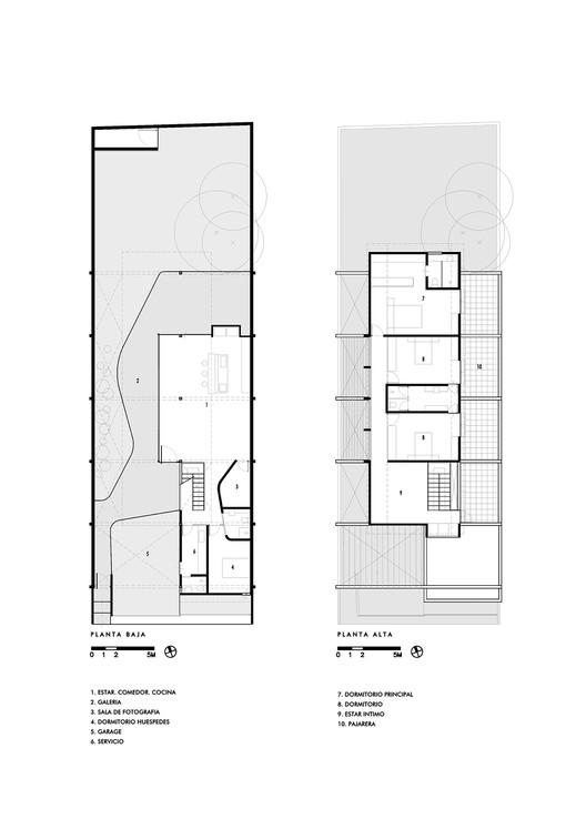 Lower Floor and Upper Floor Plans