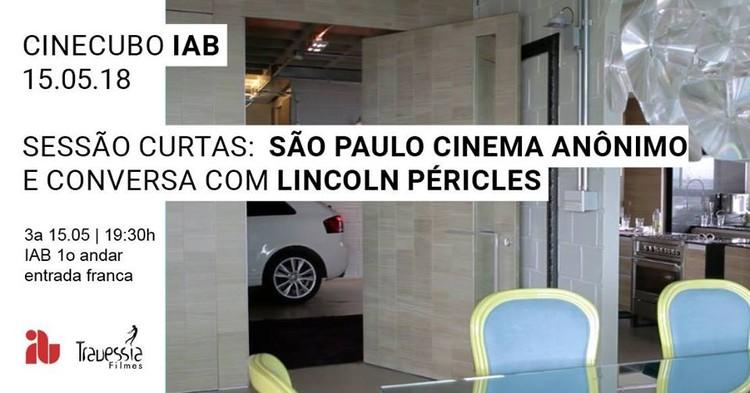 """CinecuboIAB:São PauloCinemaAnônimo, Frame dofilme""""E""""deAlexandre Wahrhaftig, Helena Ungaretti e Miguel Antunes Ramos."""