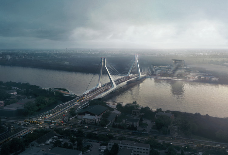 UNStudio Triumphs in Competition for New Budapest Bridge Over the River Danube, © VA Render
