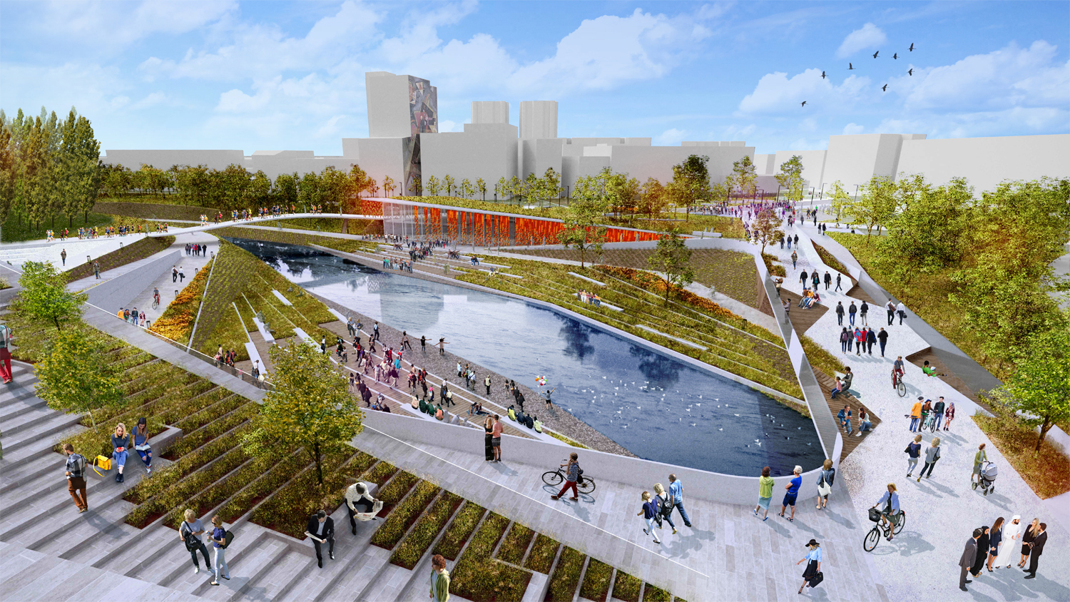 gallery of mau architecture plans an urban and landscape regeneration of fier u0026 39 s city center in