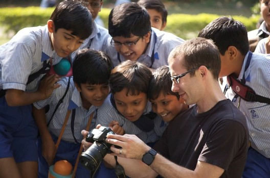 Michael Tunkey on his visit to Ahmedabad. Image © Nick W. Cameron