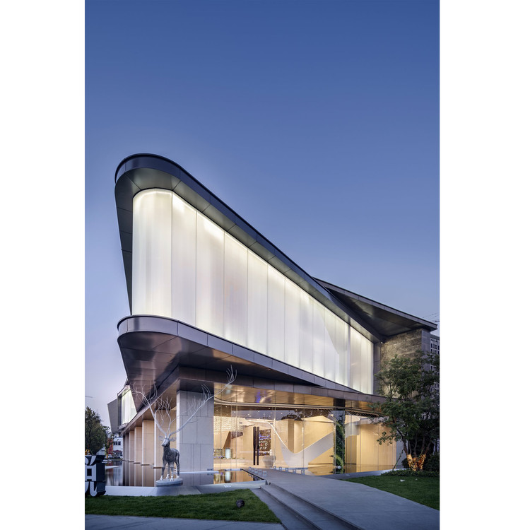Waving Ribbon Sales Center by Kris Lin and Jiayu Yang - Golden A' Design Award Winner for Architecture, Building and Structure Design Category in 2018. Image Courtesy of A' Design Award & Competition