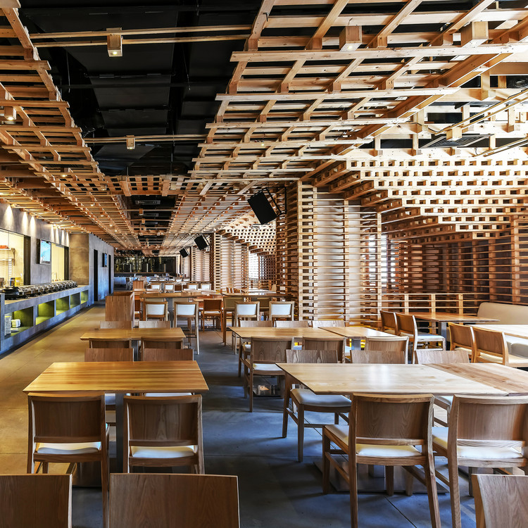 Pallet Restaurant and Micro Brewery by Ketan Jawdekar - Platinum A' Design Award Winner for Hospitality, Recreation, Travel and Tourism Design Category in 2018. Image Courtesy of A' Design Award & Competition