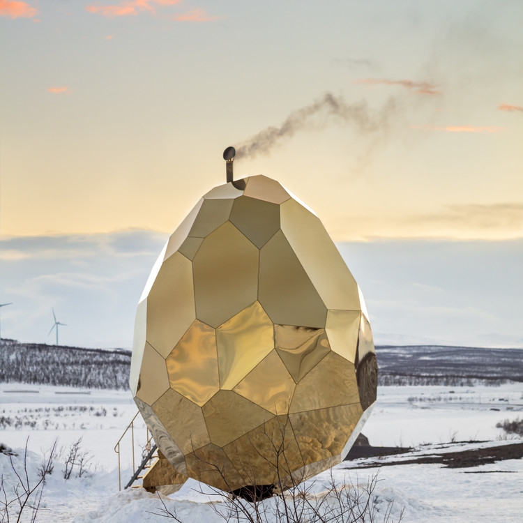 Solar Egg Public Sauna by Futurniture and Bigert & Bergström - Golden A' Design Award Winner for Architecture, Building and Structure Design Category in 2018. Image Courtesy of A' Design Award & Competition