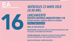 Lanzamiento Revista Materia Arquitectura #16