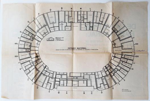 Planta original del evento en 1979. Image Courtesy of Consejo Nacional de la Cultura y las Artes