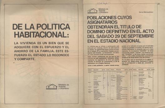 Contratapa de la planta original del evento en 1979. Image Courtesy of Consejo Nacional de la Cultura y las Artes