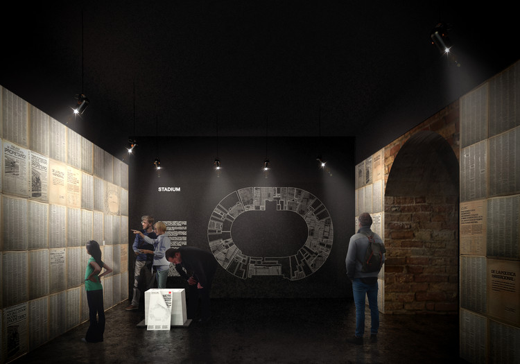 Chilean Pavilion at 2018 Venice Biennale to Recreate Physical Model of National Stadium to Illustrate the Politics of Housing, Propuesta: Acceso. Image Courtesy of Consejo Nacional de la Cultura y las Artes