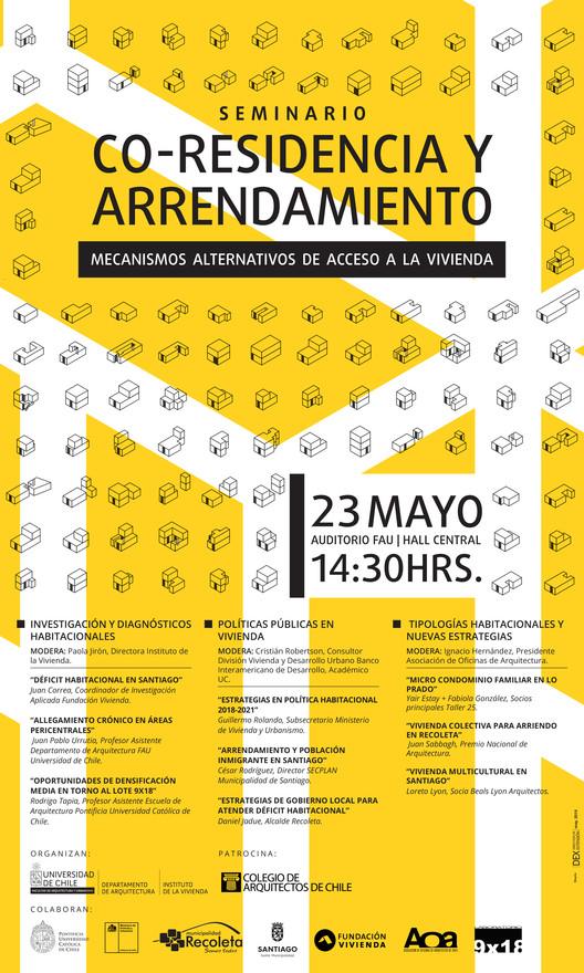 """Seminario """"Co-residencia y arrendamiento: mecanismos alternativos de acceso a la vivienda"""", Facultad de Arquitectura y Urbanismo, Universidad de Chile"""