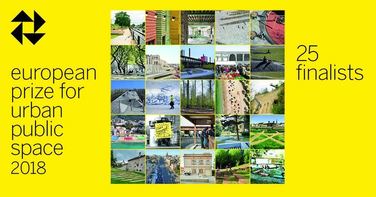 CCCB presenta los 25 finalistas del Premio Europeo del Espacio Público Urbano 2018